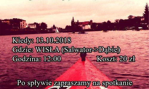 Zaproszenie na spływ Wisłą BZIKK – 13.10.2018